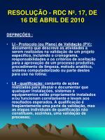 resolu o rdc n 17 de 16 de abril de 201014