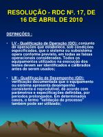 resolu o rdc n 17 de 16 de abril de 201016