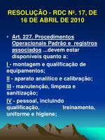 resolu o rdc n 17 de 16 de abril de 201019