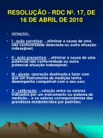 resolu o rdc n 17 de 16 de abril de 201020