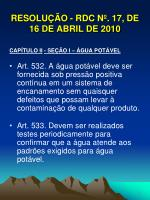 resolu o rdc n 17 de 16 de abril de 20103