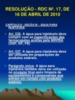 resolu o rdc n 17 de 16 de abril de 20105