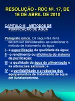 resolu o rdc n 17 de 16 de abril de 20106