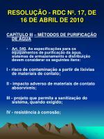 resolu o rdc n 17 de 16 de abril de 20107