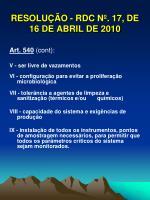 resolu o rdc n 17 de 16 de abril de 20108