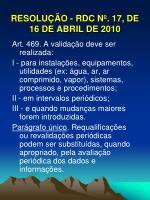 resolu o rdc n 17 de 16 de abril de 20109