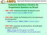ind stria qu mica e ensino de engenharia qu mica no brasil