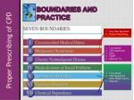 boundaries and practice