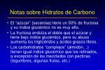 notas sobre hidratos de carbono