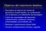 objetivos del tratamiento diet tico