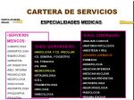 cartera de servicios