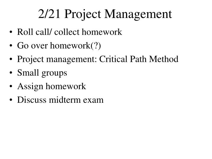 2 21 project management n.