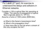 for lab 2 2 nd part an exercise to understand the delays and collisions in ethernet networks