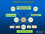 linkages at central level