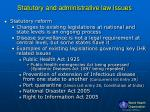 statutory and administrative law issues