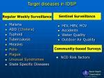 target diseases in idsp