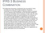 ifrs 3 business combination