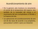 acondicionamiento de aire