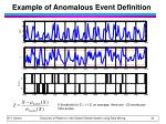 example of anomalous event definition