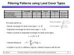 filtering patterns using land cover types