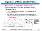 importance of global climate patterns
