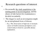 research questions of interest
