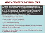 d placements journaliers