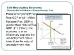 self regulating economy closing the inflationary expansionary gap
