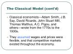 the classical model cont d