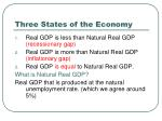 three states of the economy