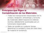 principios que rigen la contabilizaci n de los materiales