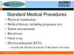 standard medical procedures