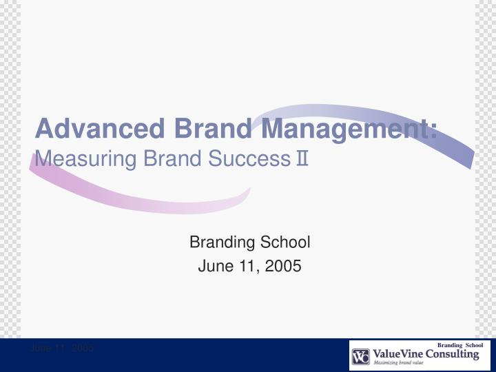 Advanced brand management measuring brand success