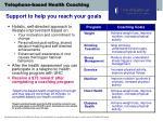 telephone based health coaching