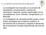 2 1 el proceso de investigacion de mercados