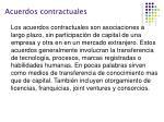 acuerdos contractuales