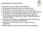 ventajas de la exportaci n