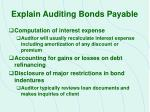 explain auditing bonds payable1