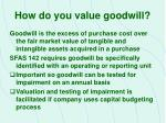 how do you value goodwill