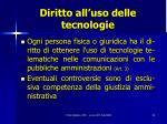 diritto all uso delle tecnologie