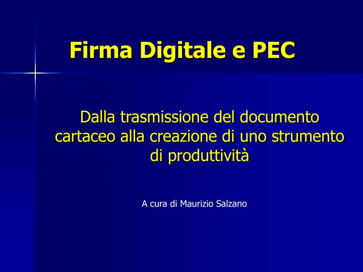 firma digitale e pec n.
