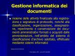 gestione informatica dei documenti