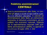 pubbliche amministrazioni centrali