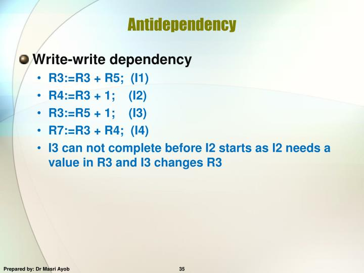Antidependency