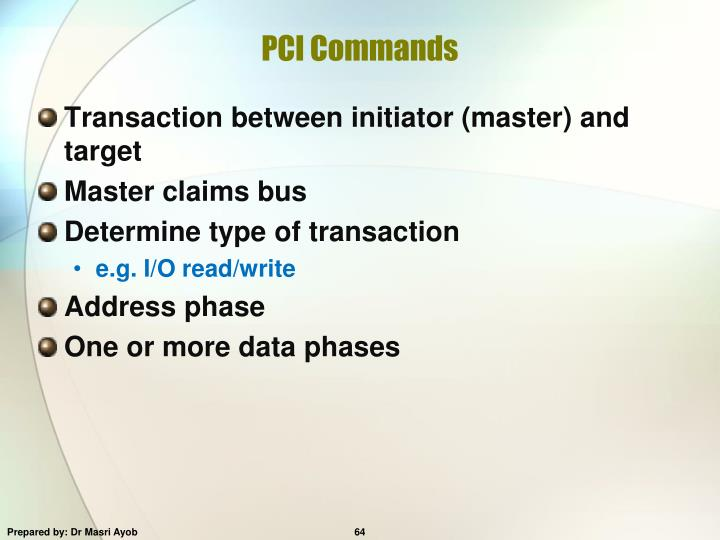 PCI Commands