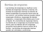 bombas de engranes