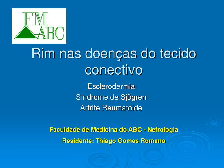 rim nas doen as do tecido conectivo n.