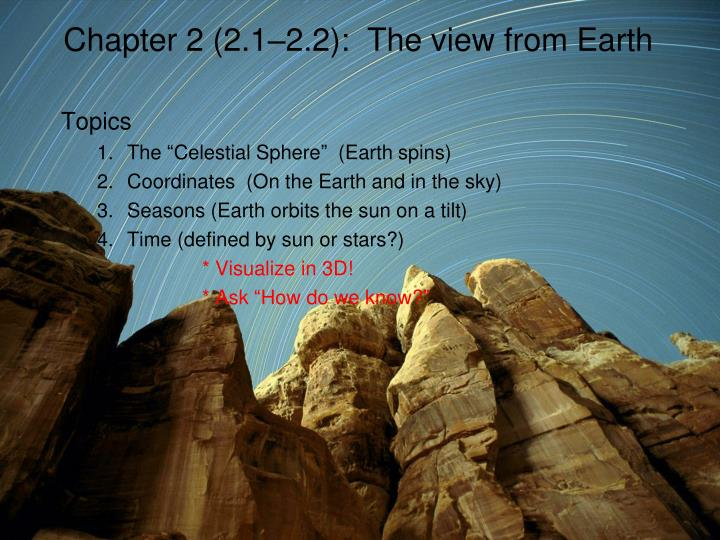 chapter 2 2 1 2 2 the view from earth n.