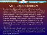 art 1 legge fallimentare