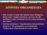 attivita organizzata